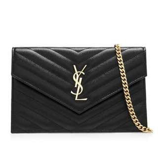 Saint Laurent Envelope Chain Wallet