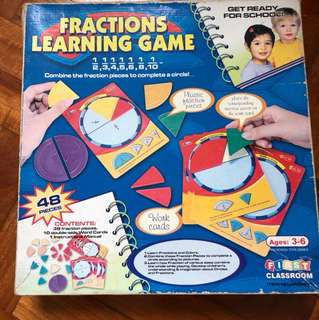 Fraction learning game