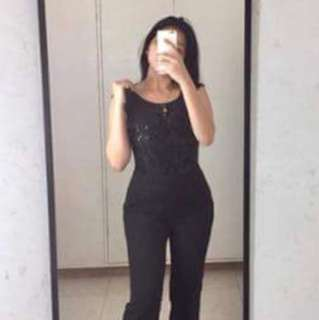 Sequined Flare Jumpsuit