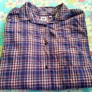 Uniqlo Plaid Flannel Long Sleeve Shirt