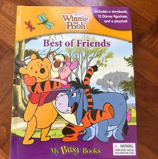 My Busy Books - Winnie the Pooh -best of friends includes a storybook 12 Disney figurines a playmat