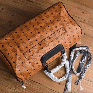 MCM Travel Luggage Bag Brown Colour