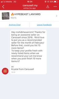 RECOMMENDED SELLER - Carousell Team