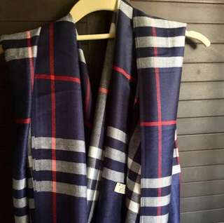 Burberry blue scarf