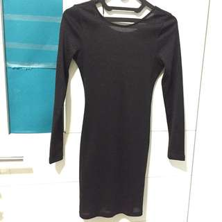 BLACK mini dress H&M