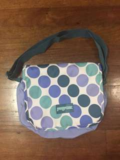 Jansport Sling Bag (Blue and White)