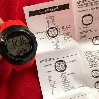 運動手錶 Instruction Manual 3D Multi Funtion Pedometer watch