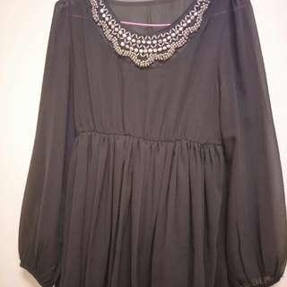 🚚 黑色性感裙