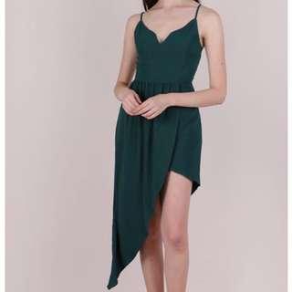 Ttr Harlyn Maxi Dress in Forest Green