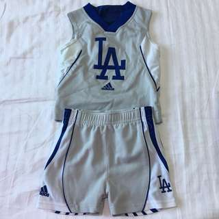LA basketball outfit fo baby