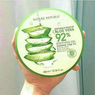 Nature Republic aloe vera soothing gel 100% ori korea