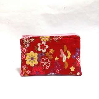Japanese Red Sakura Cherry Blossom Purse (Available )