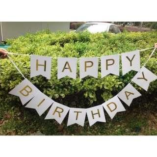 Happy birthday banner / decor