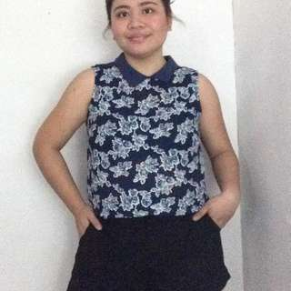 Forme Floral Sleeveless Blouse