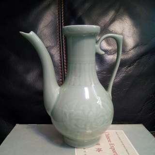 高19cm中國龍泉款酒壺(欠蓋)