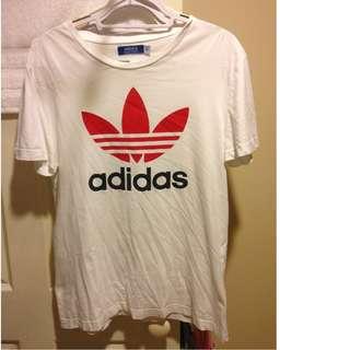 Adidas T Shirt Large - Blue White Red