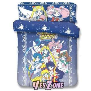Yes Zone 卡通精品 美少女戰士 SAILORMOON SAILOR STAR 正版 單人/雙人 三件套床笠純棉被套四件套床單