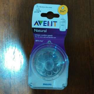 Philip avent natural teat 0+m (2PCs )