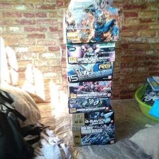 Gundam empty boxes