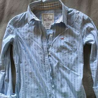 Authentic Hollister long sleeves polo