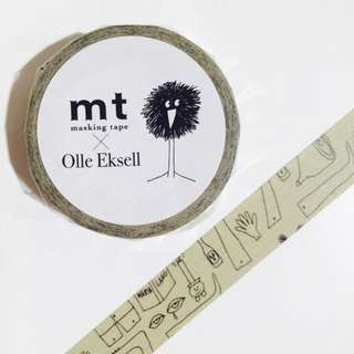 MT x Olle Eksell (Olle's Notebook) Washi Tape Sample [#MT003W]
