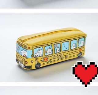 Yellow school bus pencil case