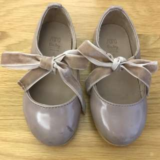 祼粉色Zara蝴蝶結鞋