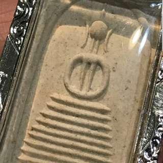 阿贊多本廟屈曼冠碰 屈曼冠碰2535老料雙線大耳法座八層崇迪  厚鍍銀開合殼