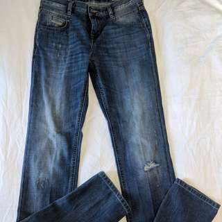 Disel straight cut low waisted jeans