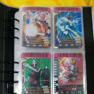 Kamen rider card with holder