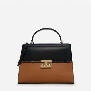Charles n Keith front flap top handle bag