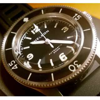 Helson Skindiver - vintage watch with Sapphire Dome - Blancpain Tribute