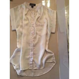 T and C white blouse