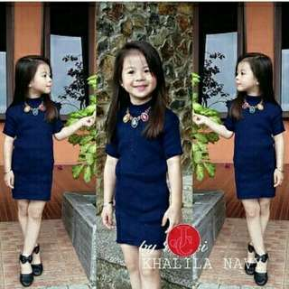 OF - Khalila kid dress  65000  bahan rajut asli fit to 3-5 th Ld56 P57 bahan melar bisa smpe 7th tp jd atasan ya kalo 7th