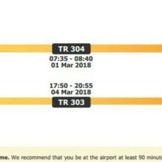 2 Flight tickets via Scoot to Ho Chin Minh 1st March to 4th March