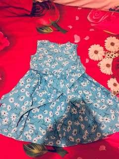 blue Dress anak