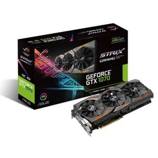 Asus ROG Strix GeForce® GTX 1070 OC (STRIX-GTX1070-O8G-GAMING) | NVIDIA GeForce GTX 1070 GDDR5 8GB | DVI, HDMI, DisplayPort Port