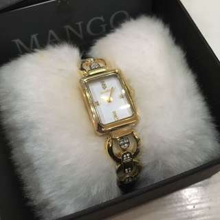 Mango Ladies Dress Watch - Gold with crystals