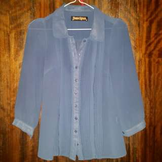 Blue Princess Highway blouse