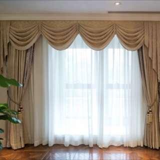 Gold stylish curtains set