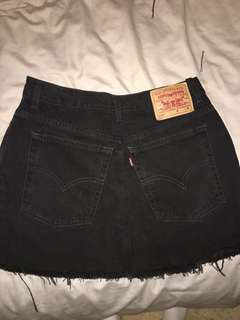 denim skirt black Levi's vintage