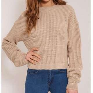 Plt Stone Knitted Crop Jumper