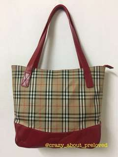 Authentic Burberry Small Shoulder Bag (red) - Vintage style