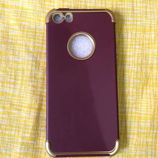 Iphone 5/5s/se soft case (maroon gold)
