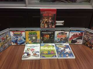 PS3 Games and Wii games