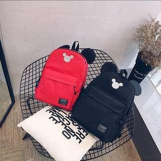 <P.O> Korean Ulzzang Harajuku Lovely Mickey Mouse Canvas Backpack