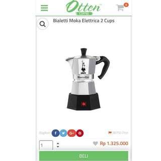Bialetti Moka Elettrika 2 cups (coffee maker) - new! Masih dalam box, jual rugi, baru beli Januari 2018, belum dibuka dari boxnya.