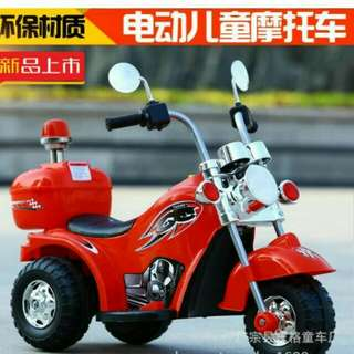 Electric police  motorcycle/ in red/bicycle