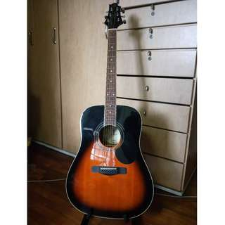 Greg Bennet Acoustic Guitar - Includes Stand and Case