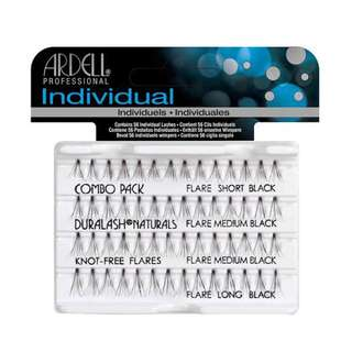 Ardell Individual Knot-Free Flare Lashes - Combo Black (short, medium & long)